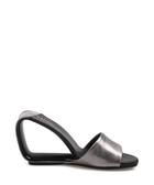 Gun leather cut-out slip-on heels