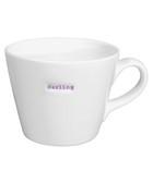 Darling white porcelain bucket mug