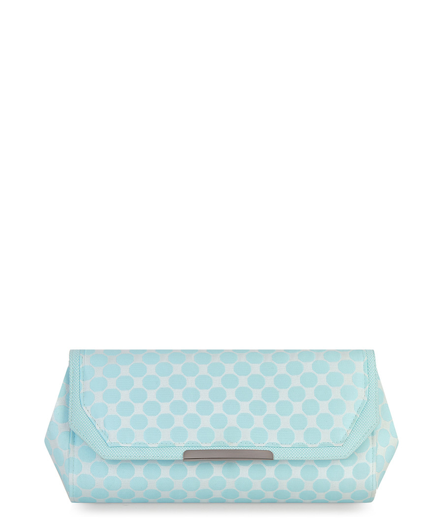 Mint geometric print clutch  Sale - ruby shoo