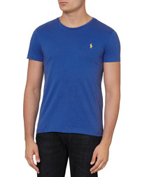 Iris blue pure cotton logo T-shirt