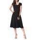 Black waist-tie dress Sale - peperuna Sale