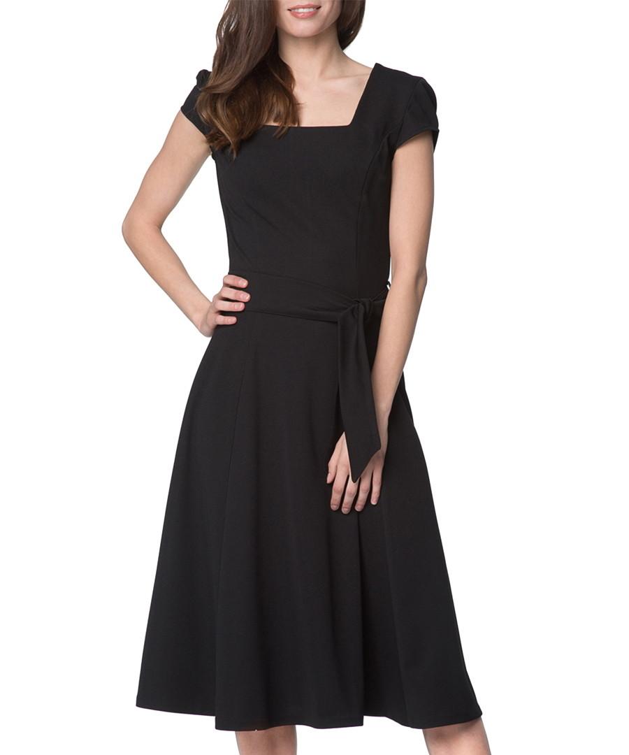 Black waist-tie dress Sale - peperuna