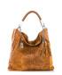 Tan leather moc-croc slouch bag Sale - Anna Morellini Sale