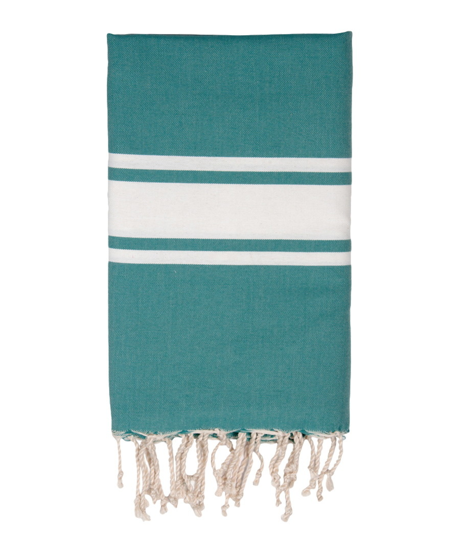 Traditional emerald pure cotton towel Sale - FEBRONIE
