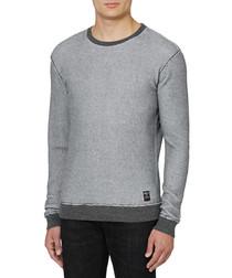 Dark grey pure cotton sweater