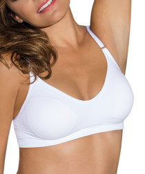 Comfort white wireless bra