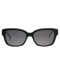 Black & grey gradient oval sunglasses