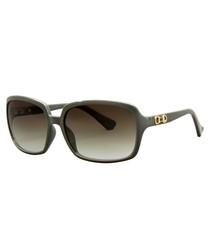Olive rectangular sunglasses