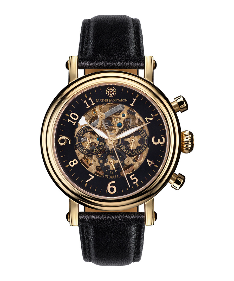 Executive gold-tone & black watch Sale - mathis montabon