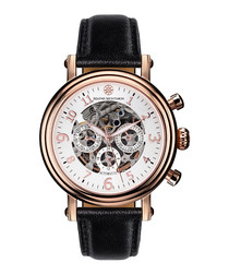 Executive rose gold-tone & white watch