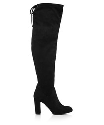 Pace black over-the-knee boots