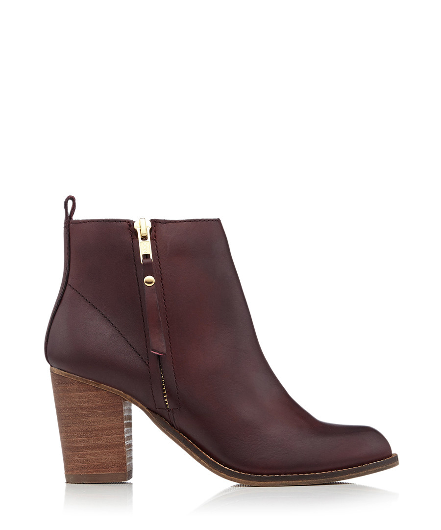 2d77731f90a6 Discount Tanga wine leather heeled ankle boots | SECRETSALES