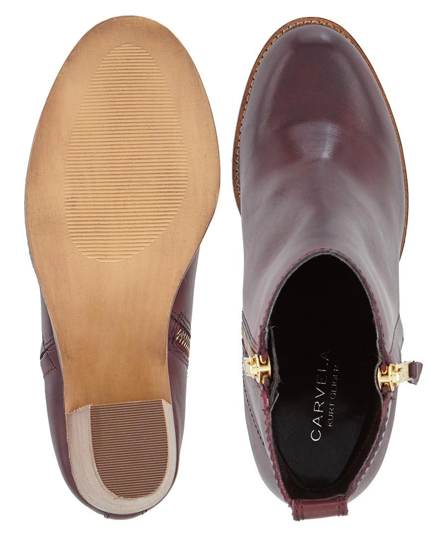b876e399b04b ... Tanga wine leather heeled ankle boots Sale - carvela ...