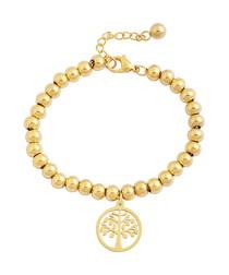 Heritage 18k gold-plated charm bracelet