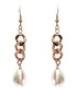18k rose gold-plated chain earrings Sale - chloe collection by liv oliver Sale