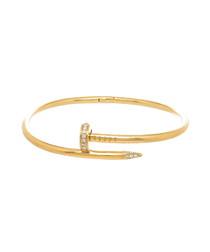 18k gold-plated steel hinge bangle