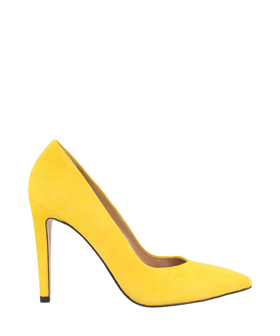 Yellow suede court shoes Sale - roberto botella
