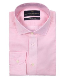Pink cotton long-sleeved shirt