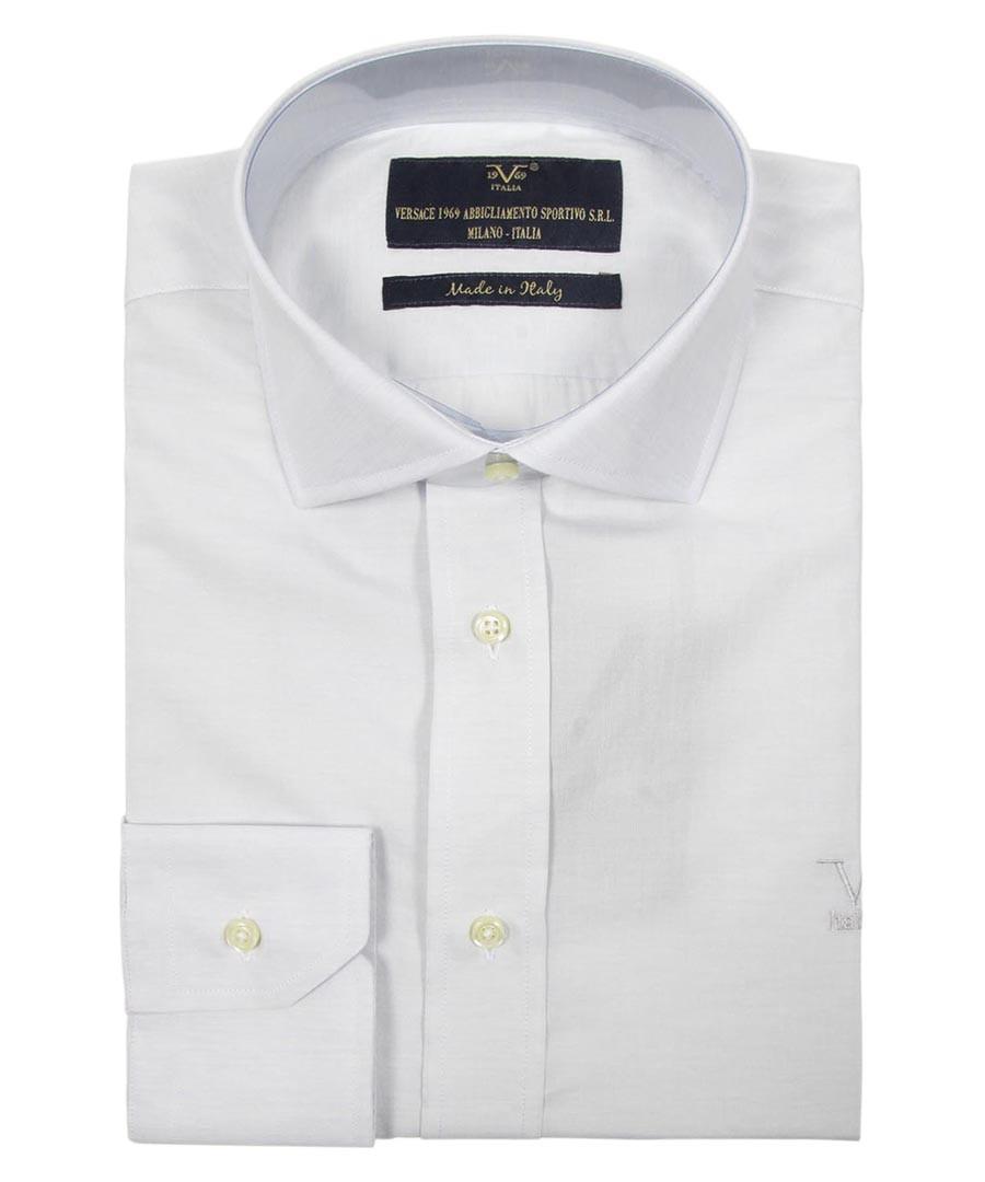 Light grey pure cotton shirt Sale - v italia by versace 1969 abbigliamento sportivo srl milano italia