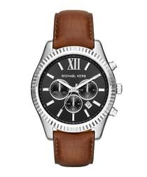 Lexington brown leather strap watch