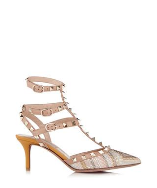 2bd1156657f Rockstud striped leather kitten heels Sale - Valentino Sale