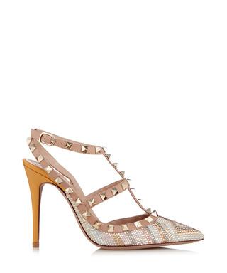 72e0a3a4c491 Rockstud mandarin   beige leather heels Sale - Valentino Sale