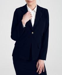 Black collar detail blazer