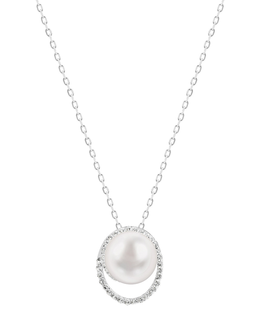 Silver-tone & white pearl necklace Sale - Windsor Pearls