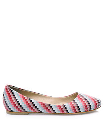 Kerry printed leather ballet flats