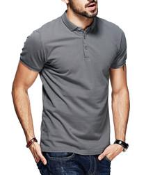 Grey cotton classic polo shirt