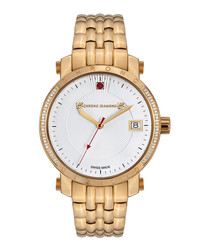 Nesta gold-tone steel & diamond watch