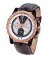 Furia brown leather strap watch Sale - chrono diamond Sale