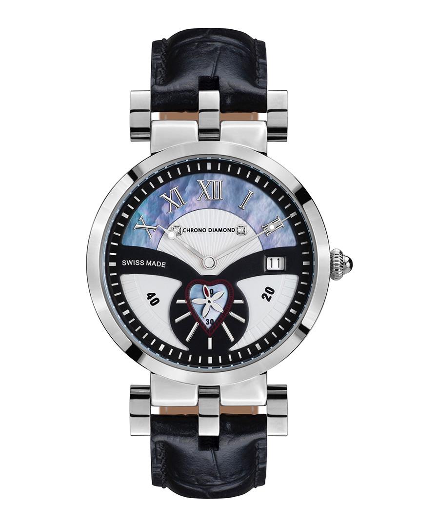 Feronia steel & diamond half-dial watch Sale - chrono diamonds