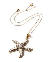 Mauritius crystal starfish necklace
