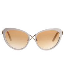 White cross over cat-eye sunglasses