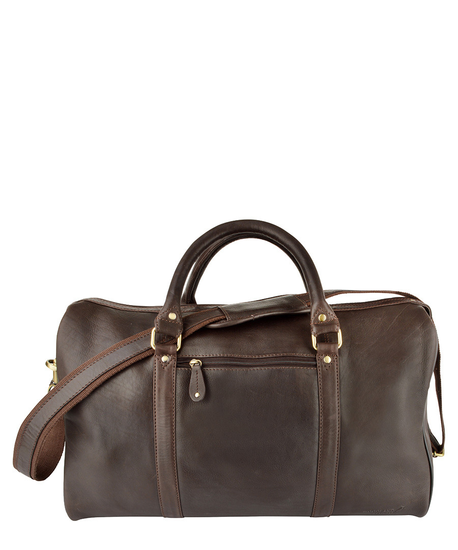 Brown leather cabin bag Sale - woodland leather