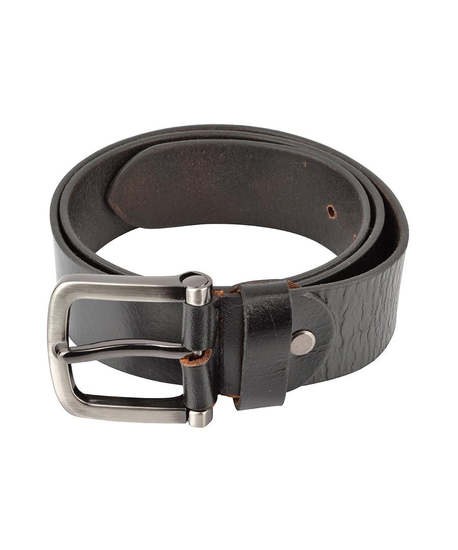 Men's black leather belt Sale - woodland leather