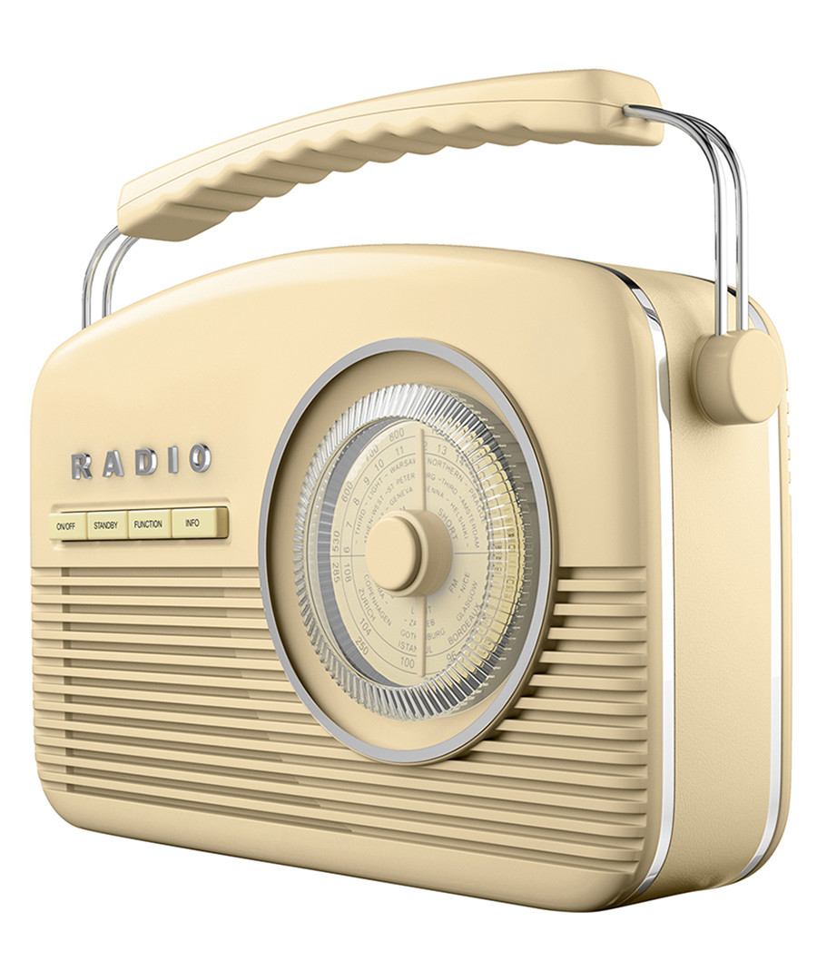 Cream DAB retro style radio Sale - Akai