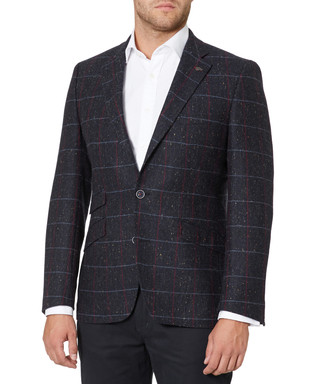 2ea77e5b038 Slate blue pure wool check blazer Sale - REMUS UOMO Sale