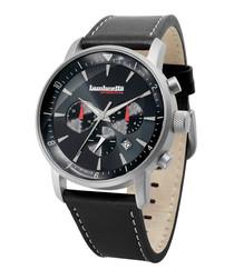Imola Classic black & silver-tone watch