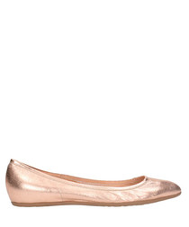 Copper leather flats