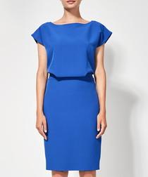 Cobalt blue knee-length dress