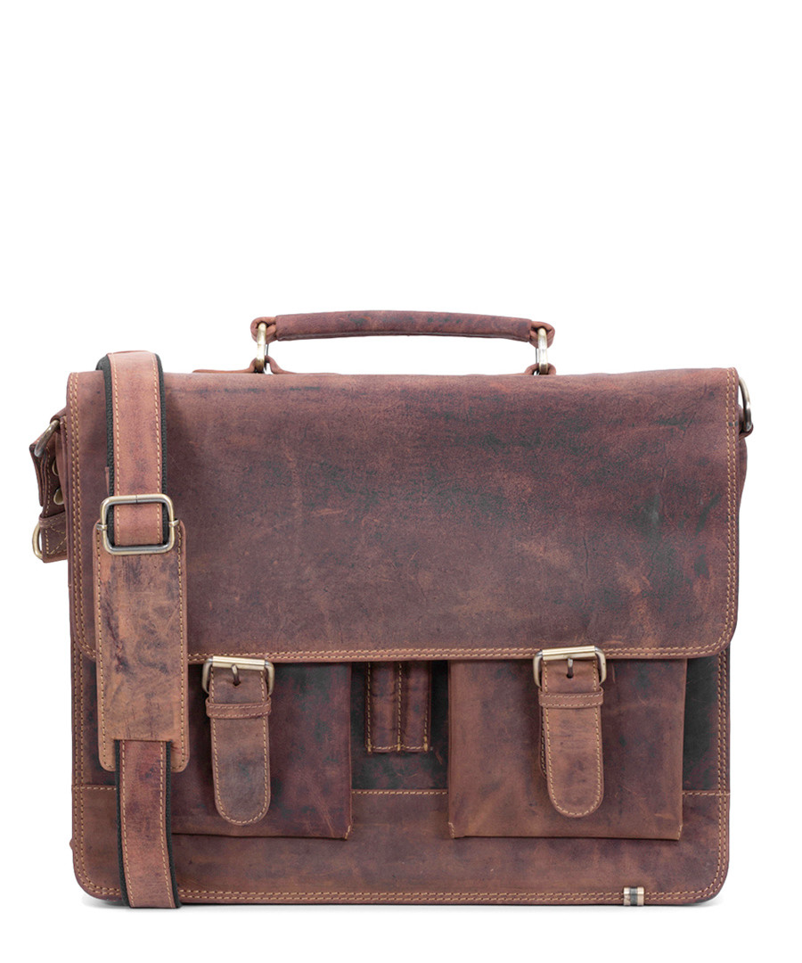 brown leather antique briefcase Sale - Lloyd Baker
