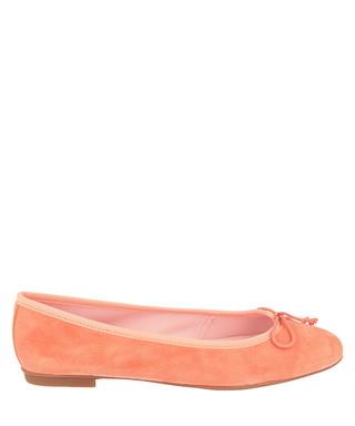 16d4c6701663 Apricot suede-effect ballerina flats Sale - Bisue Ballerinas Sale