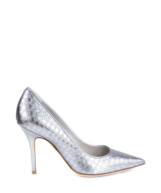 ab656319c4e Dior. Silver leather pointed toe heels