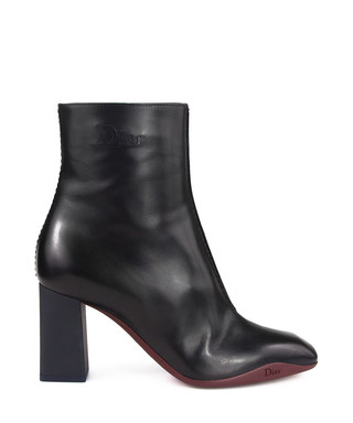 79c86bd6134 Black leather block heel ankle boots Sale - Dior Sale