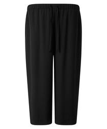 Alesia black drawstring cropped trousers