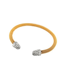 18ct gold-plated bangle
