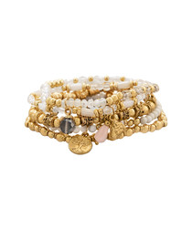 18ct gold-plated & crystal bracelet
