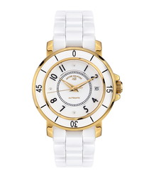 Aphrodite gold-tone & diamond watch